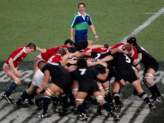 British and Irish Lions scrum by Kiwi Flickr CC-By 2.0
